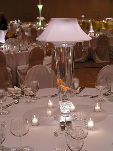 Ostrich feather centerpieces rentals lampshade and