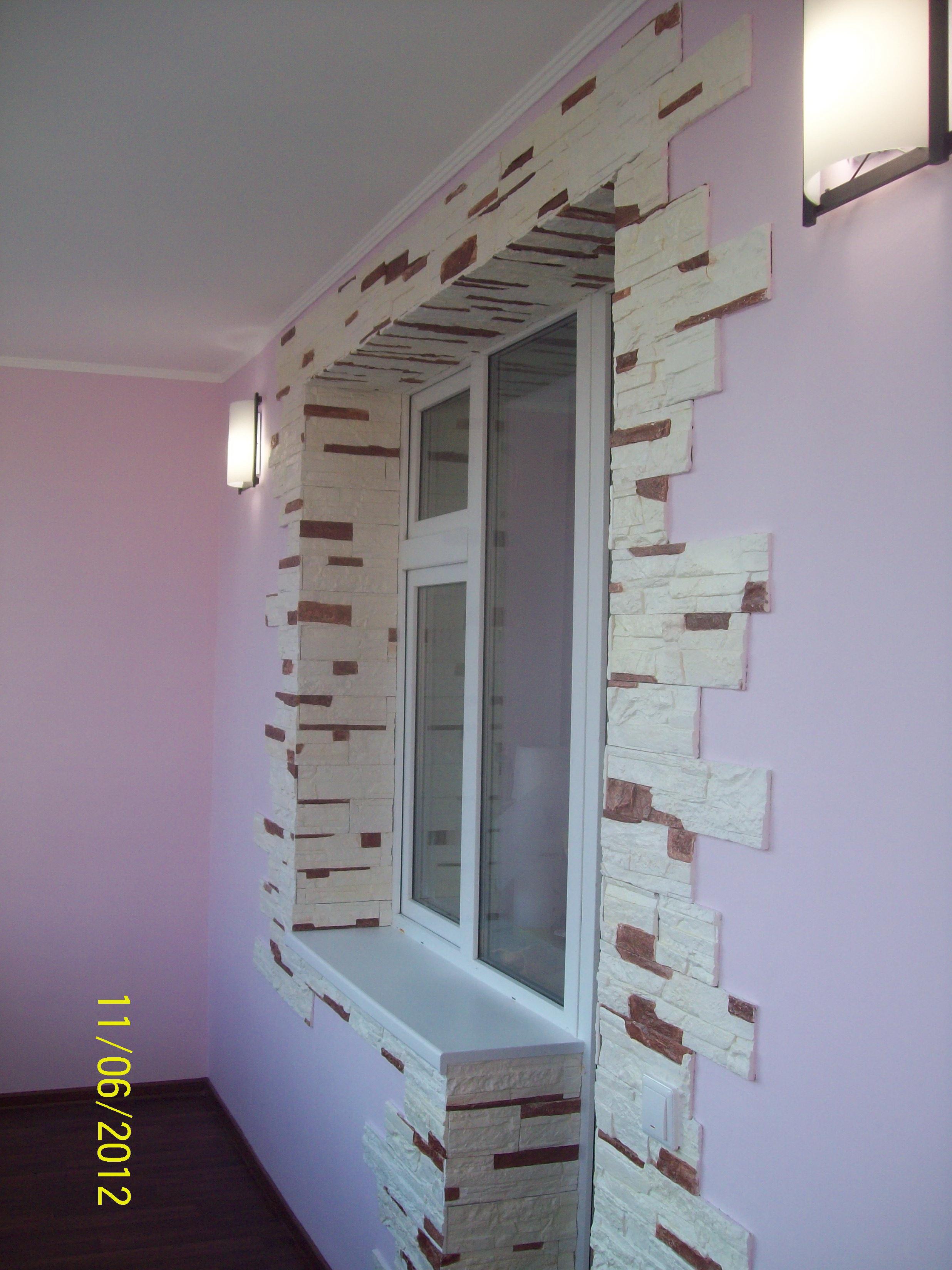 Отделка балкона декоративным камнем своими руками фото 30