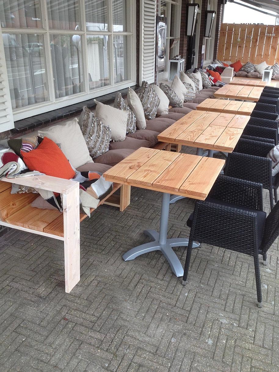 Projectinrichting horeca en winkel niets is ons te gek - Overdekt terras voor restaurant ...