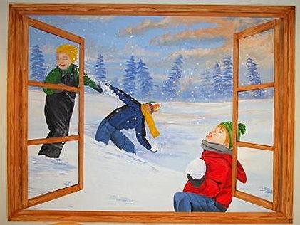 Paintings Scenes Through Windows Scene Through The Window