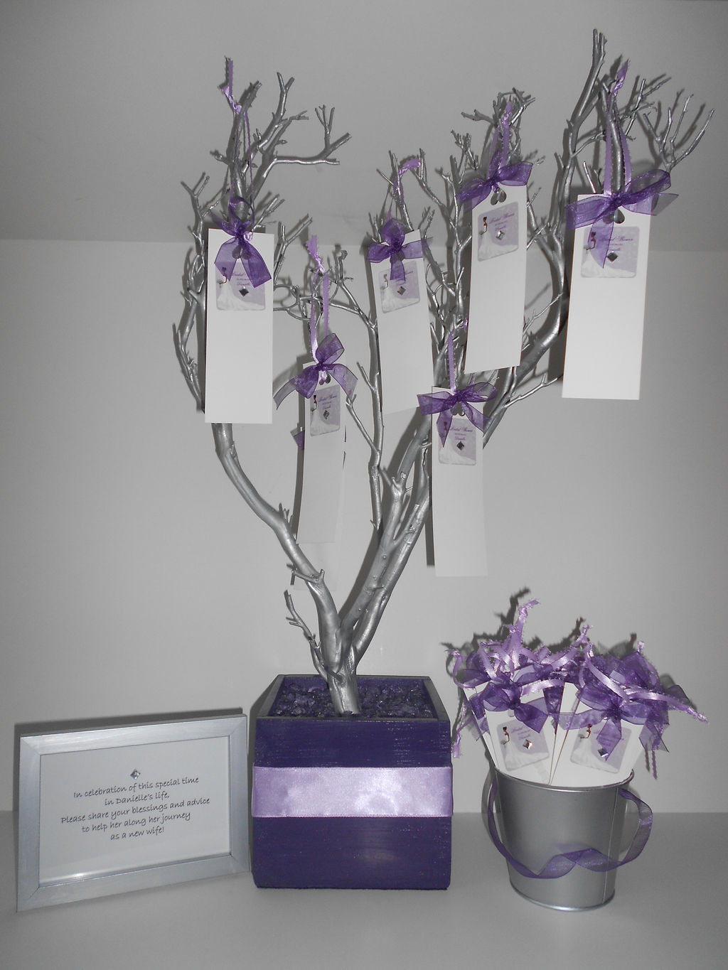 bridal shower guestbook tree