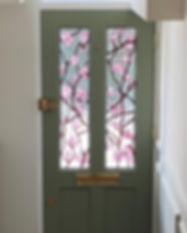 Floral Stained Glass Door Inserts