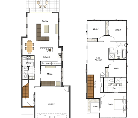 Small lot homes narrow block designs brisbane for 20 wide house plans