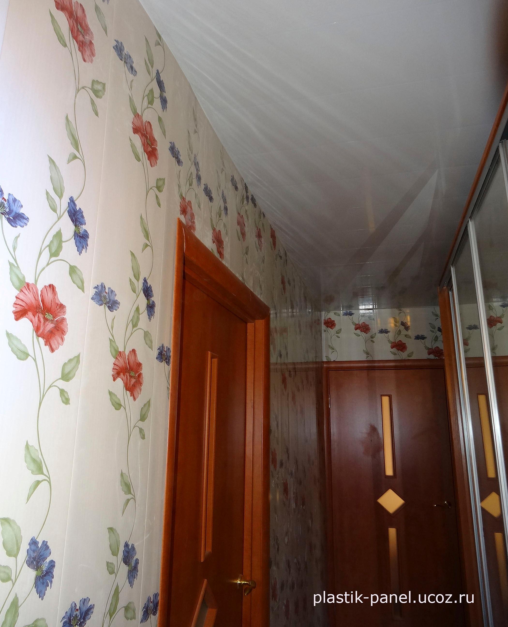 Потолок в прихожей из пластиковых панелей своими руками 14