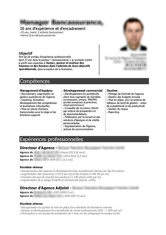 modele cv directeur agence bancaire