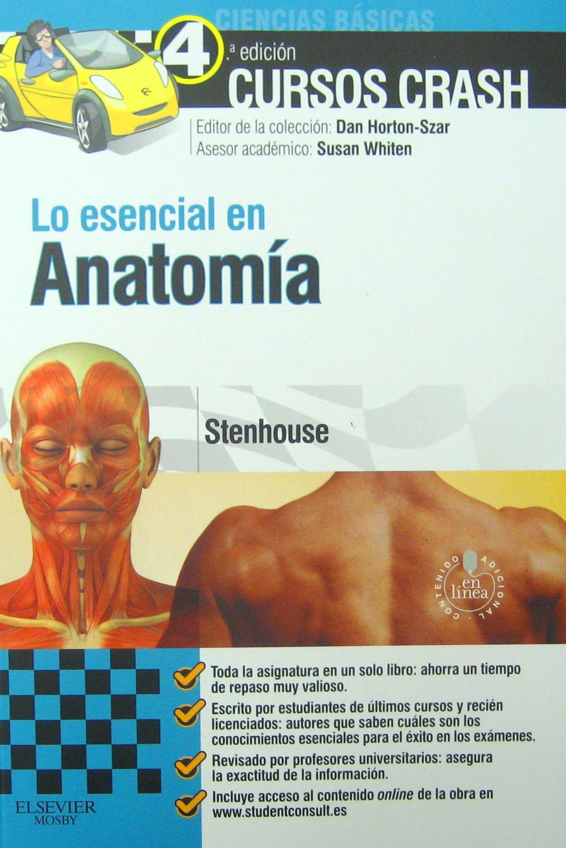 Curso Crash: Lo esencial en Anatomía 4 ed PDF (MEGA) | librosmedicosfree