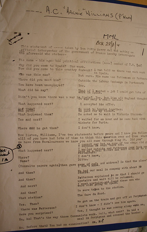 page1 of AC Williams' interrogation