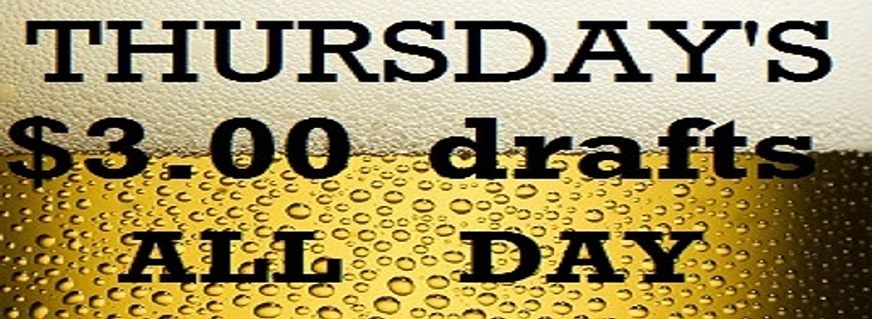 Thursday $3 Drafts