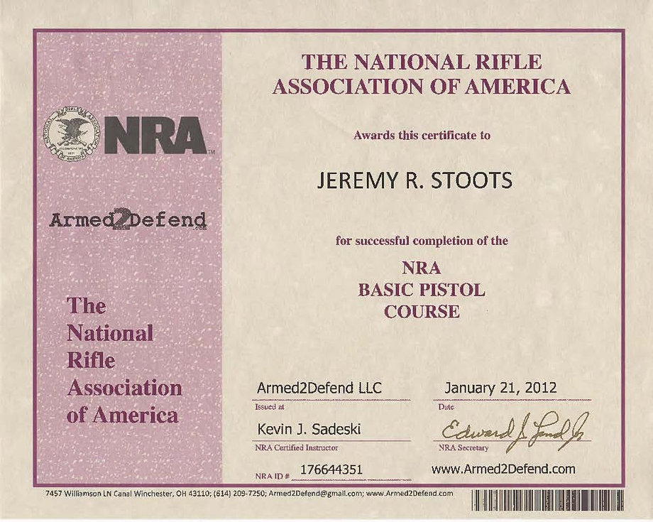 Firearms training certificate template idealstalist firearms training certificate template yelopaper Images