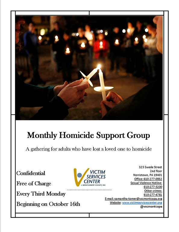 montly homicide group flyer