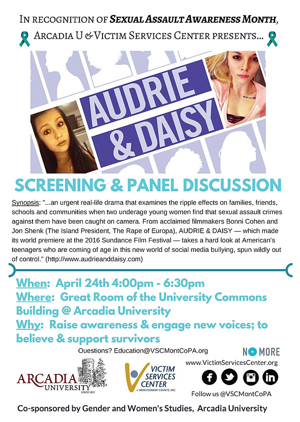 AudrieAndDaisy Screening and Panel Flyer 2017