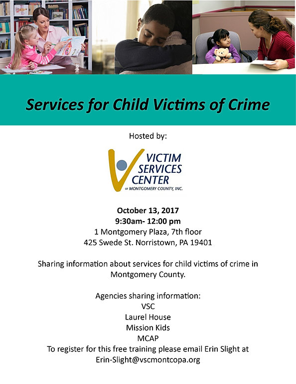 services for child victims training