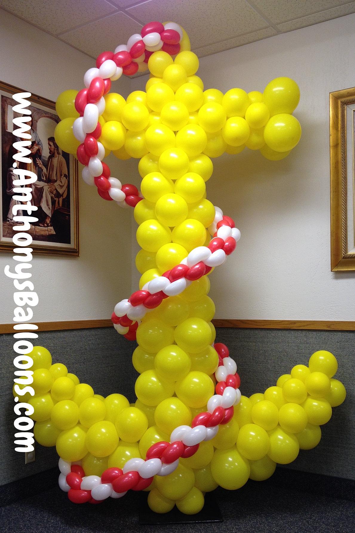 Chicago balloon decor anchor balloon sculpture for Balloon decoration chicago