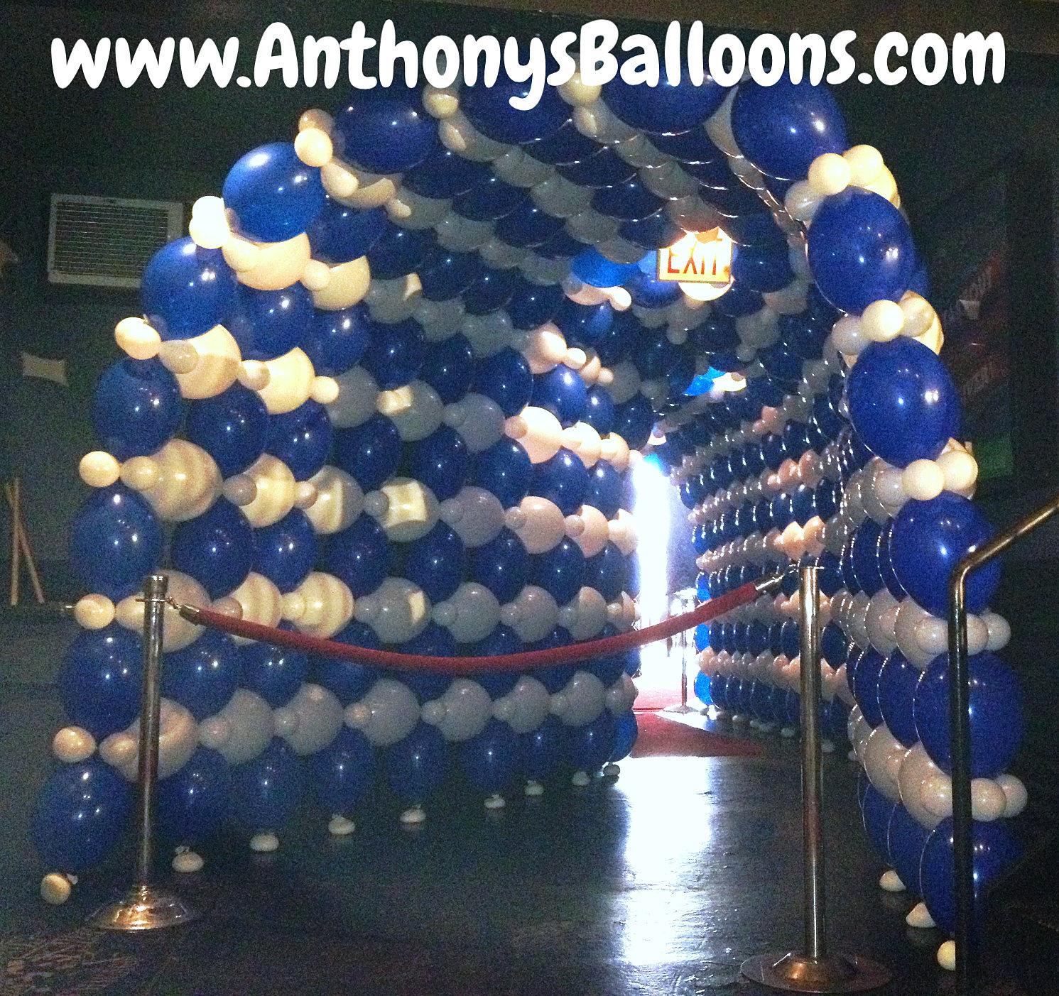 Chicago balloon decor long balloon tunnel for Balloon decoration chicago