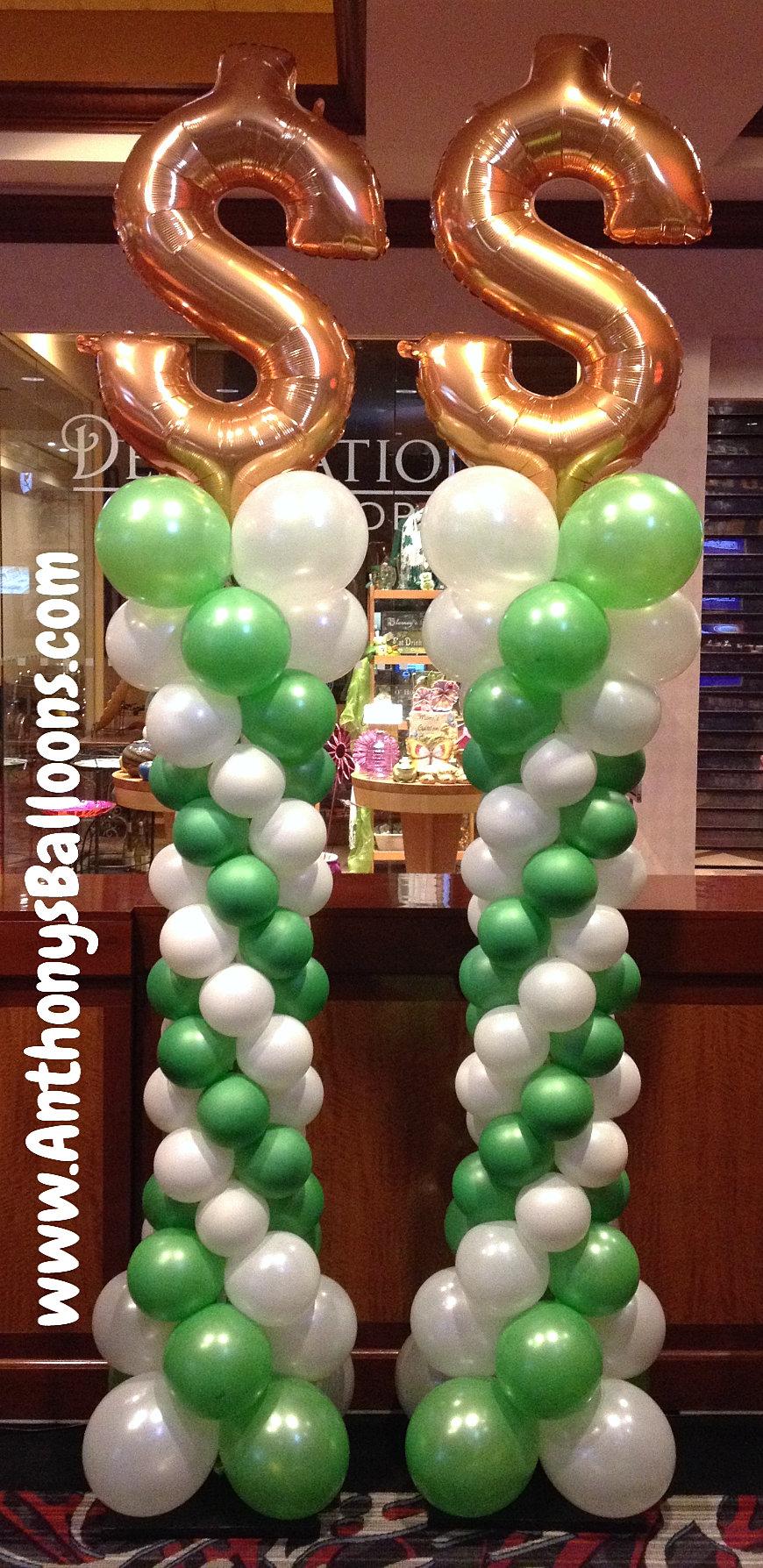 Chicago balloon decor 8 9 39 tall curvy balloon column for Balloon decoration chicago