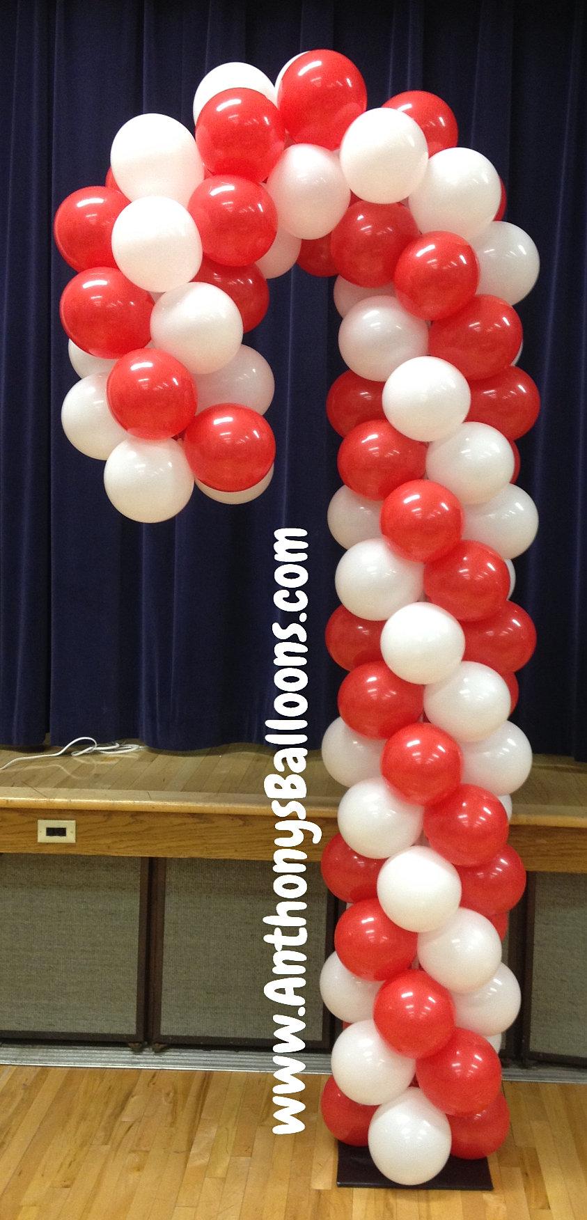 Chicago balloon decor candy cane balloon sculpture for Balloon decoration chicago