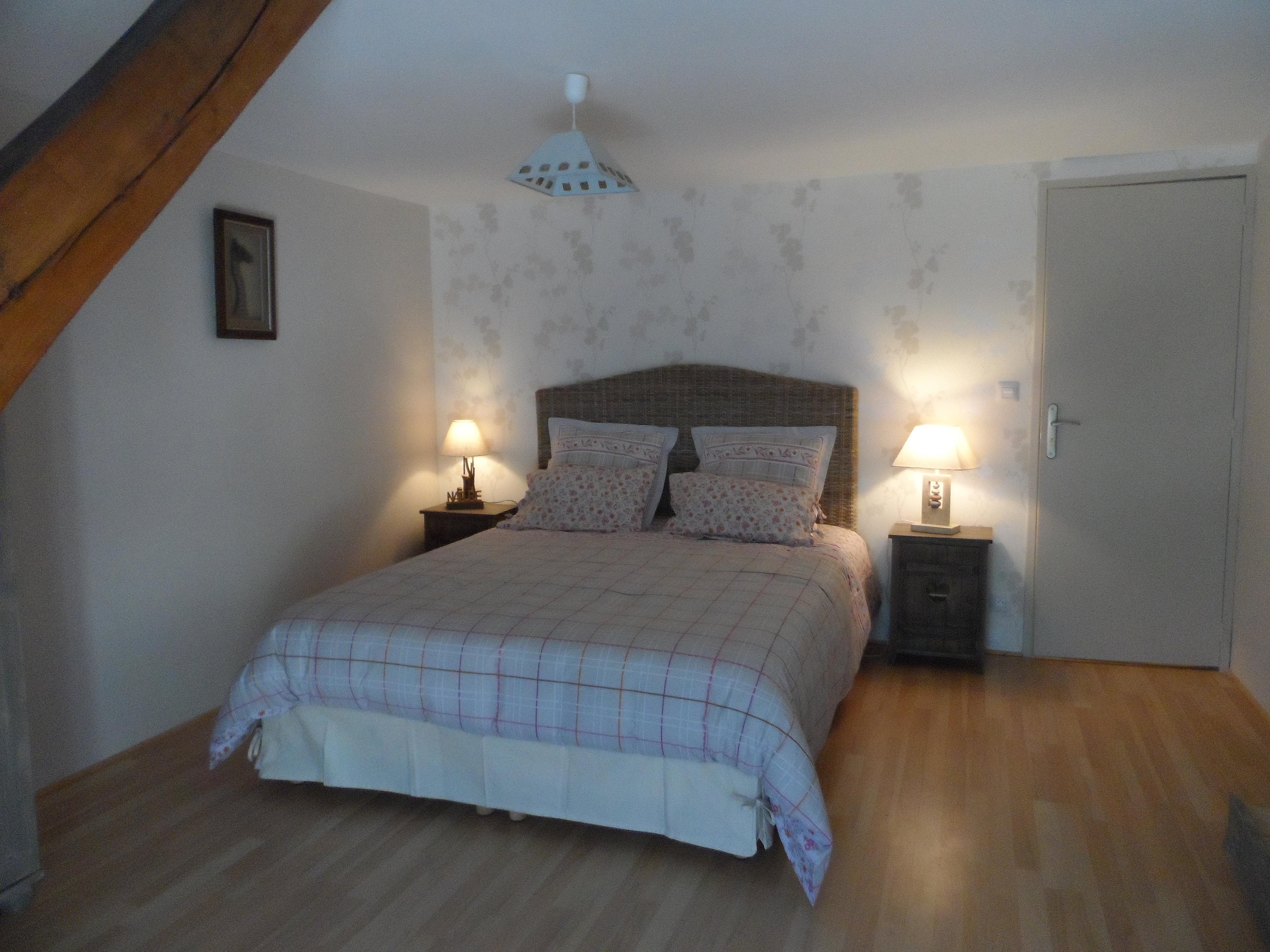 chambres d 39 h tes entre le zoo beauval et les ch teaux de la loire chambre beauval lit queen size. Black Bedroom Furniture Sets. Home Design Ideas