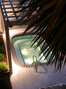 Outdoor Hot Tub @ Night