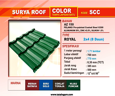 genteng surya roof color warna