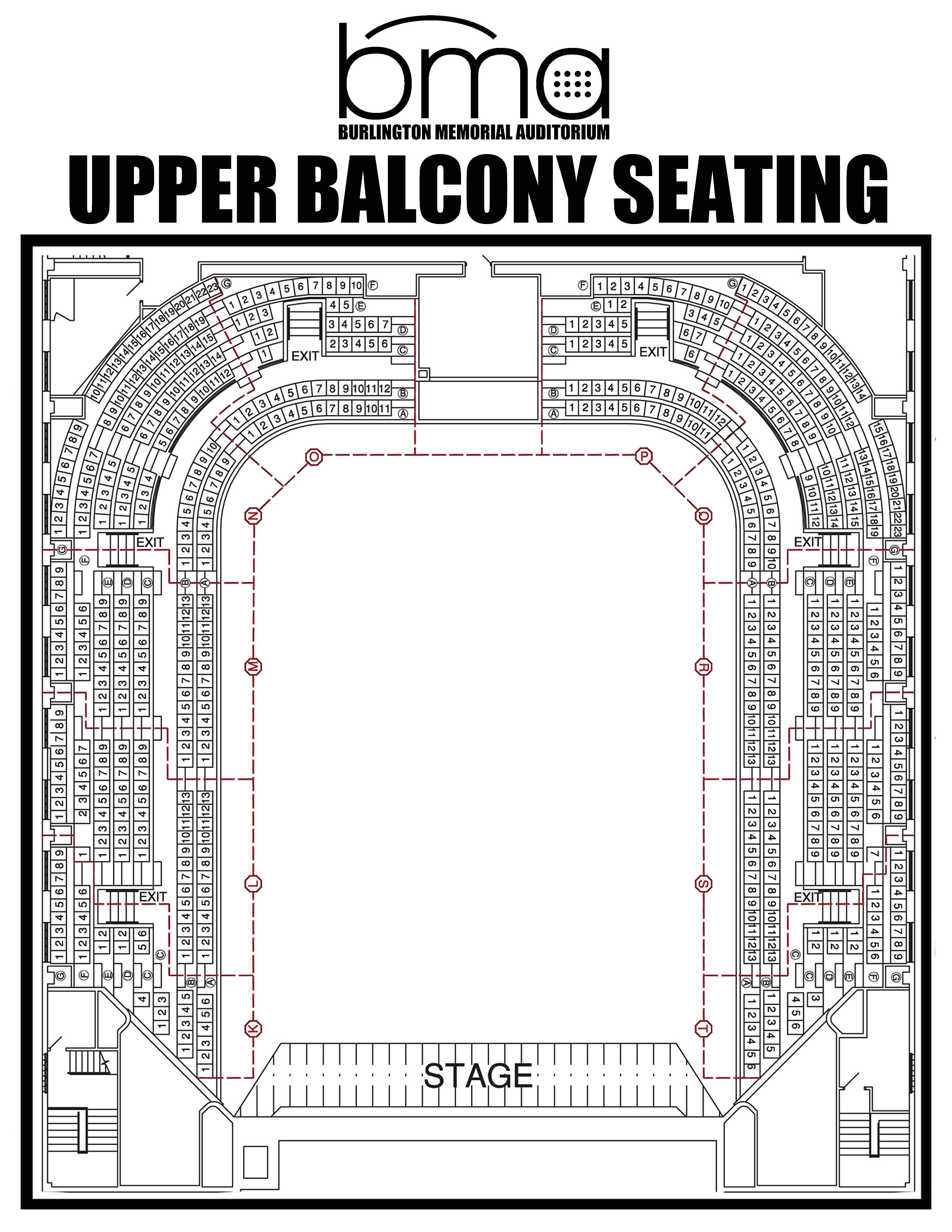 Bma bma upper balcony seating for Balcony seating