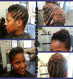 Twisted updo for A touch of heaven salon