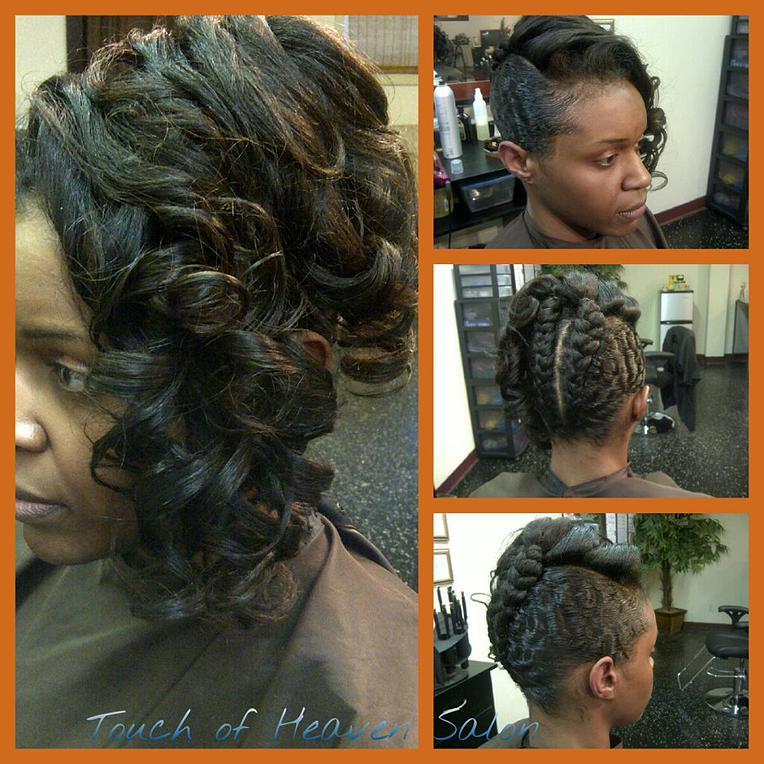 Pics for jumbo braid updo for A touch of heaven salon