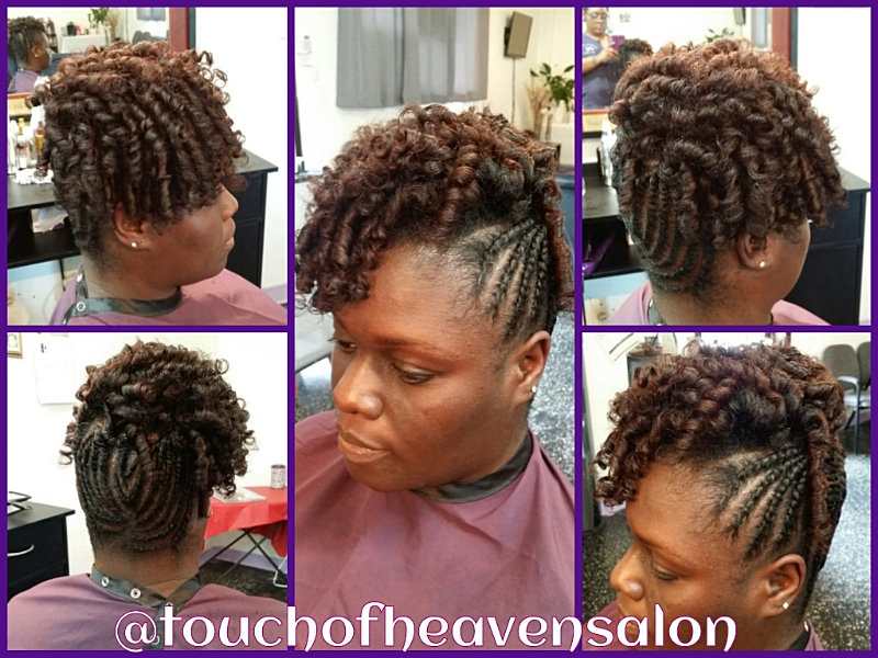 Touch of heaven salon twisted updo with flexi rod set for A touch of heaven salon