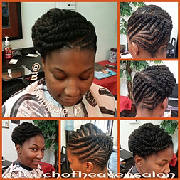 Twisted protective style marley hair for A touch of heaven salon