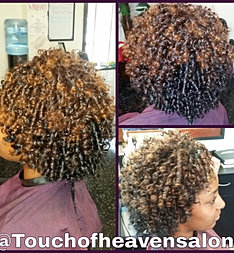 Natural flexi rod set for A touch of heaven salon