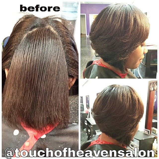Bob a line haircut short hairstyle 2013 for A touch of heaven salon