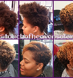 Natural taper cut with bang for A touch of heaven salon