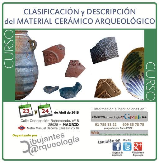 Cursos arqueolog a cer mica arqueol gica dibujantes de for Curso de ceramica madrid