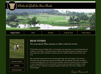 Campo de Golfe Template - Um template clássico e elegante reflete a sofisticação de seu clube privado ou campo de golfe. Mostre sua área, promova próximos eventos e divulgue as mensalidades para sócios.Comece a criar um website de bom gosto que represente o seu empreendimento!