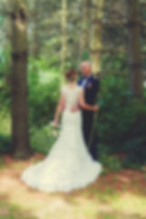 Outfoor military wedding in a forest