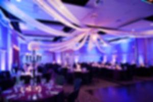 Elegant purple and gray wedding