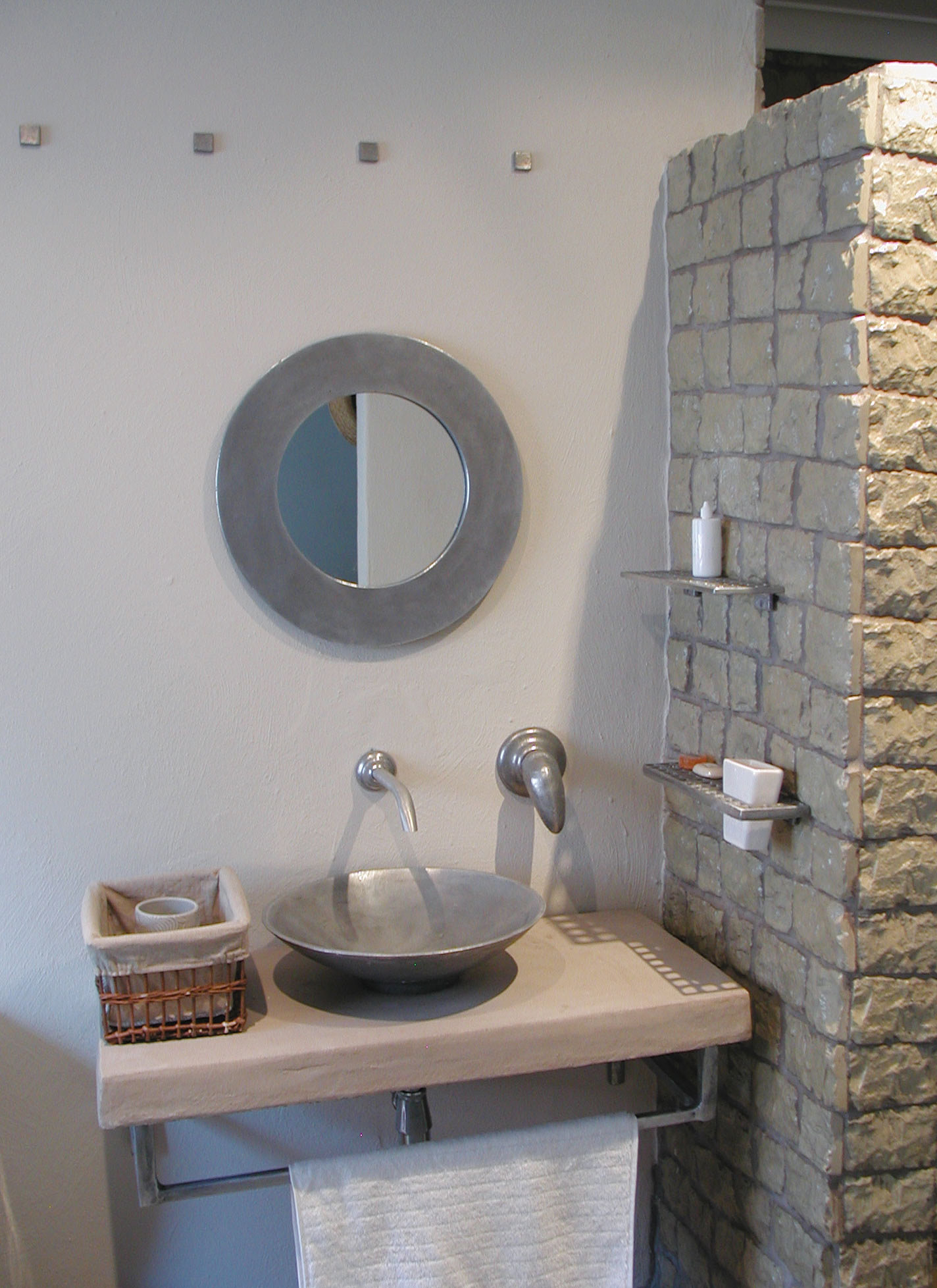 Bathroom Accessories Fixtures Ironwood Creations Rustic Concrete And Brick