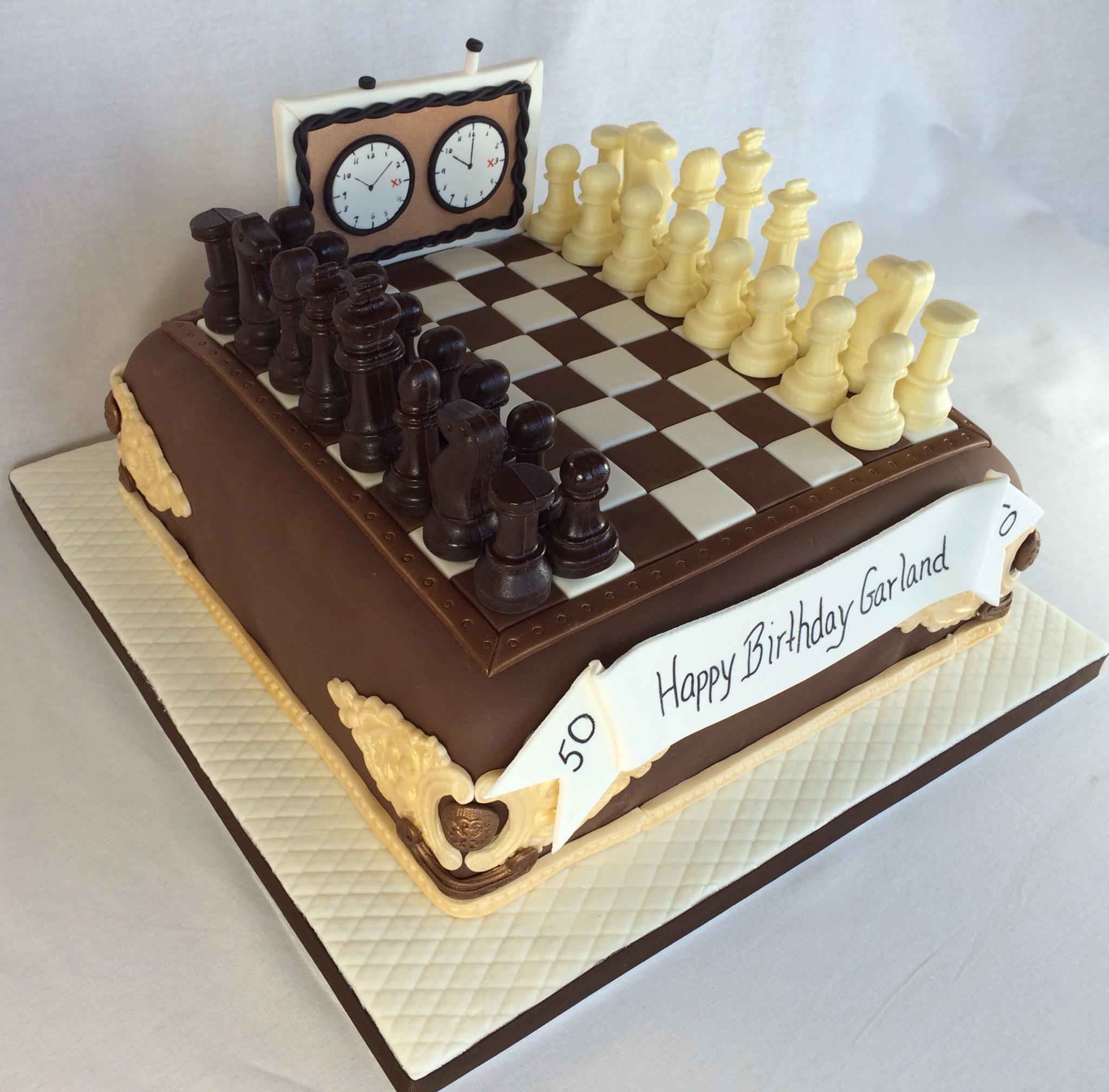 Chess Birthday Cake