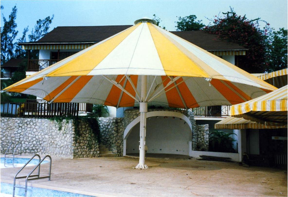a  metre barbados giant umbrella : metre giant umbrella