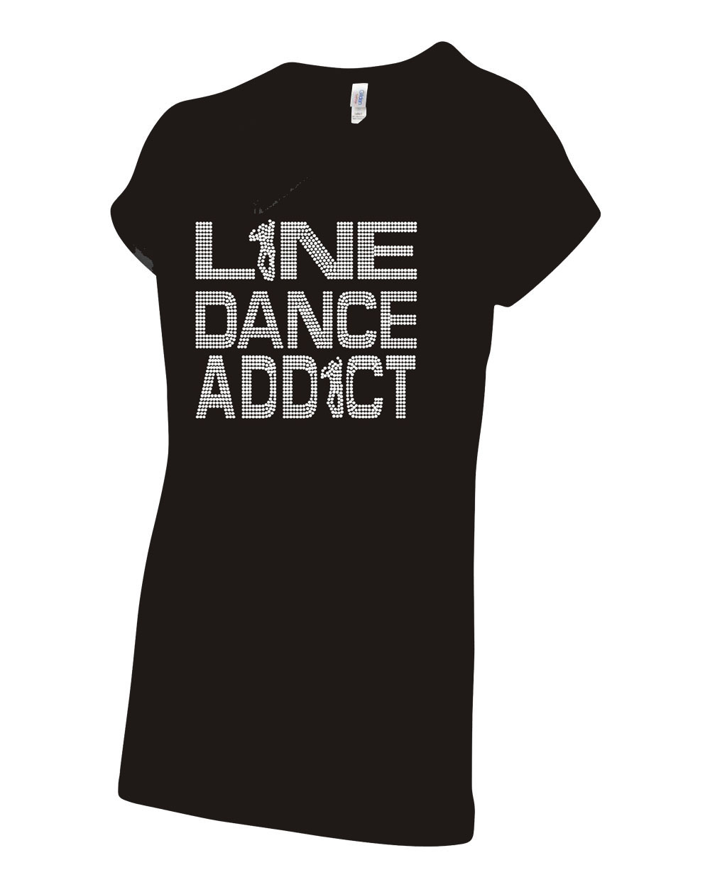 Line Dance Addict Words Christopher Page Apparel Bling