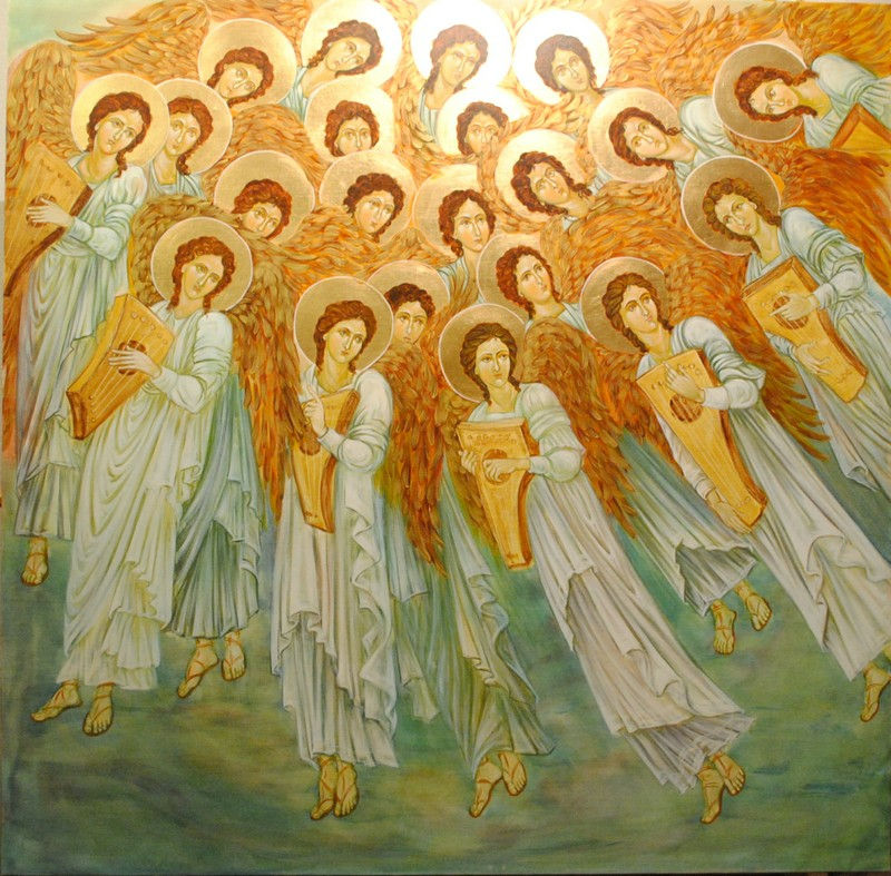 Image result for angelic choir painting