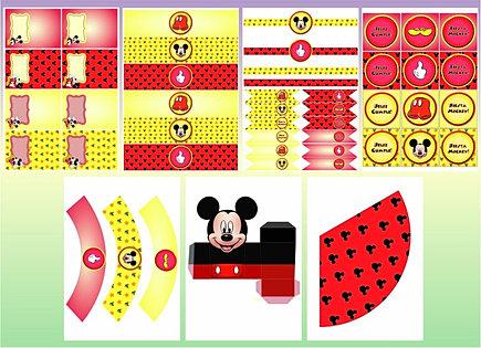 Kits imprimibles de Mickey Mouse - Imagui