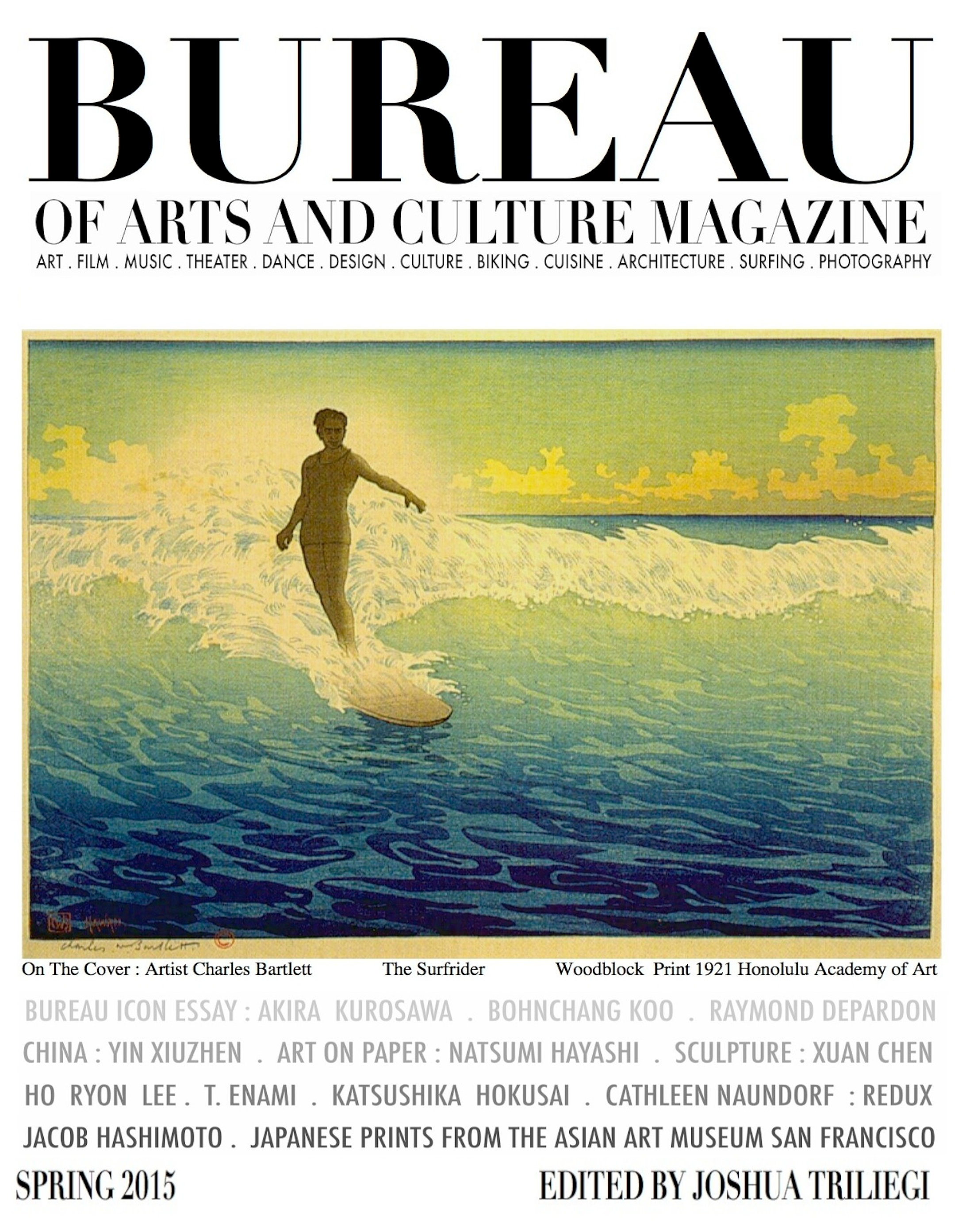 magazine bureau of arts and culture spring 2015 surf cover ese