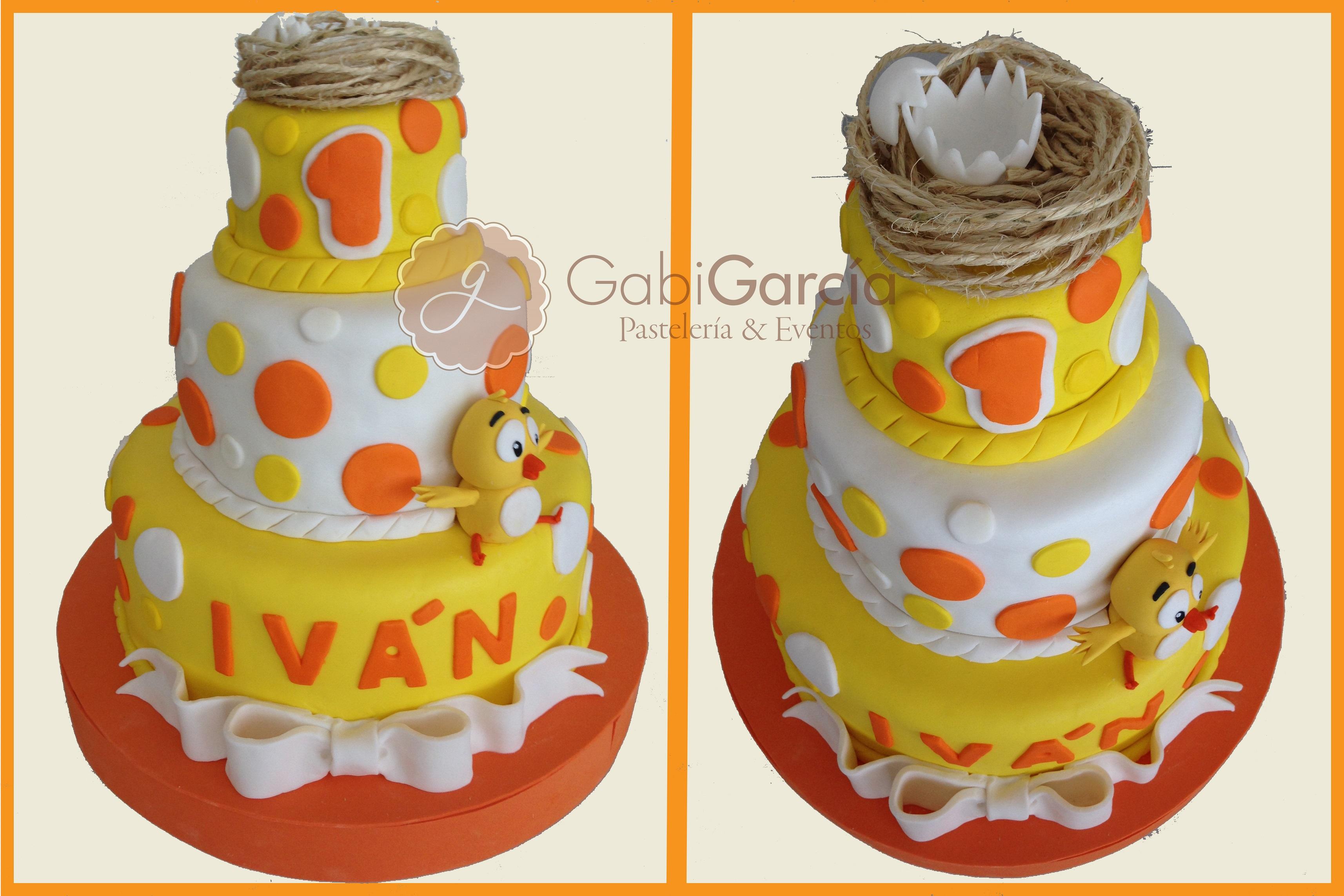Gabi Garcia Pasteleria & Eventos | Torta pollito amarillito