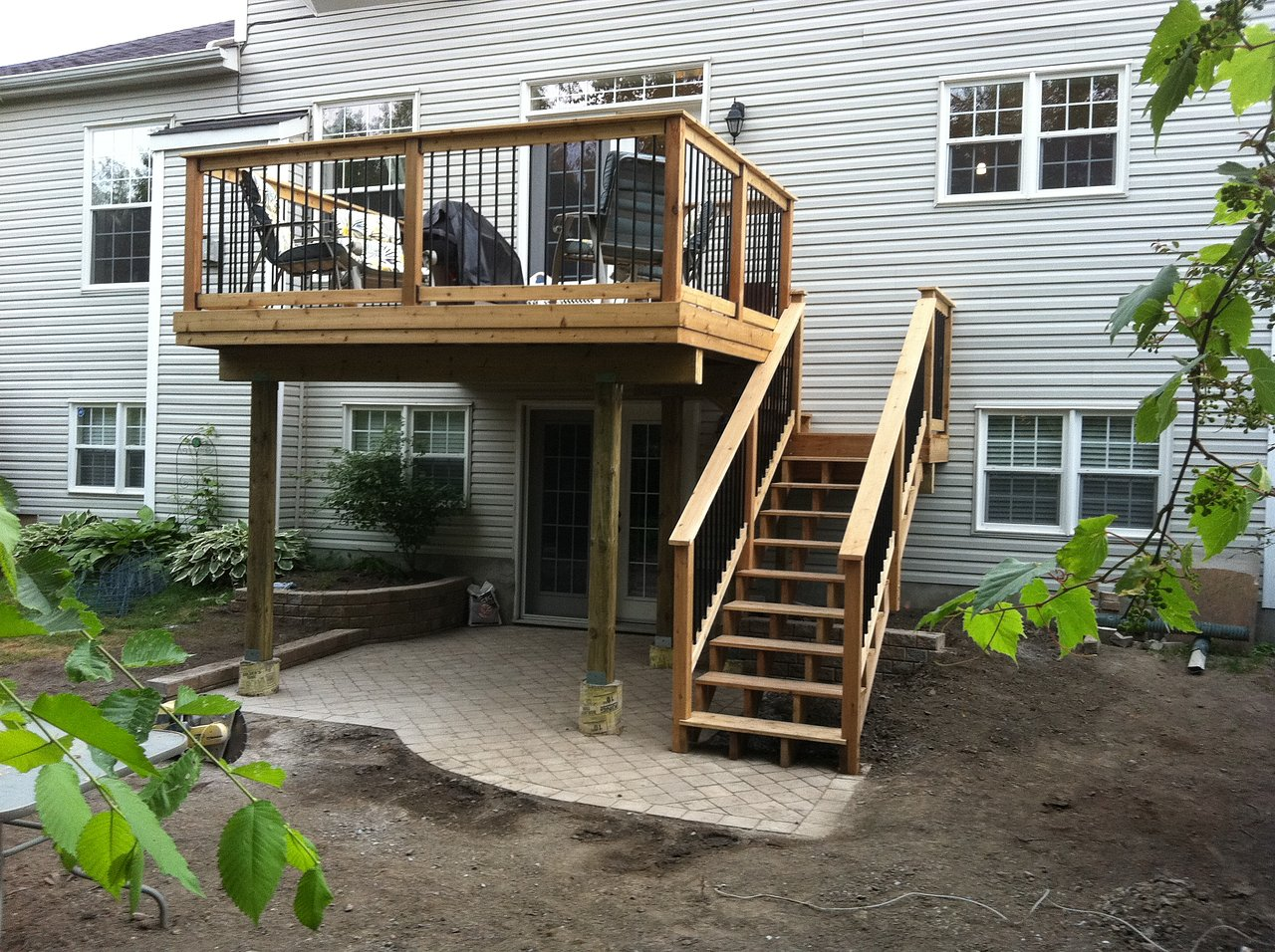 awesome second story deck ideas pictures home building