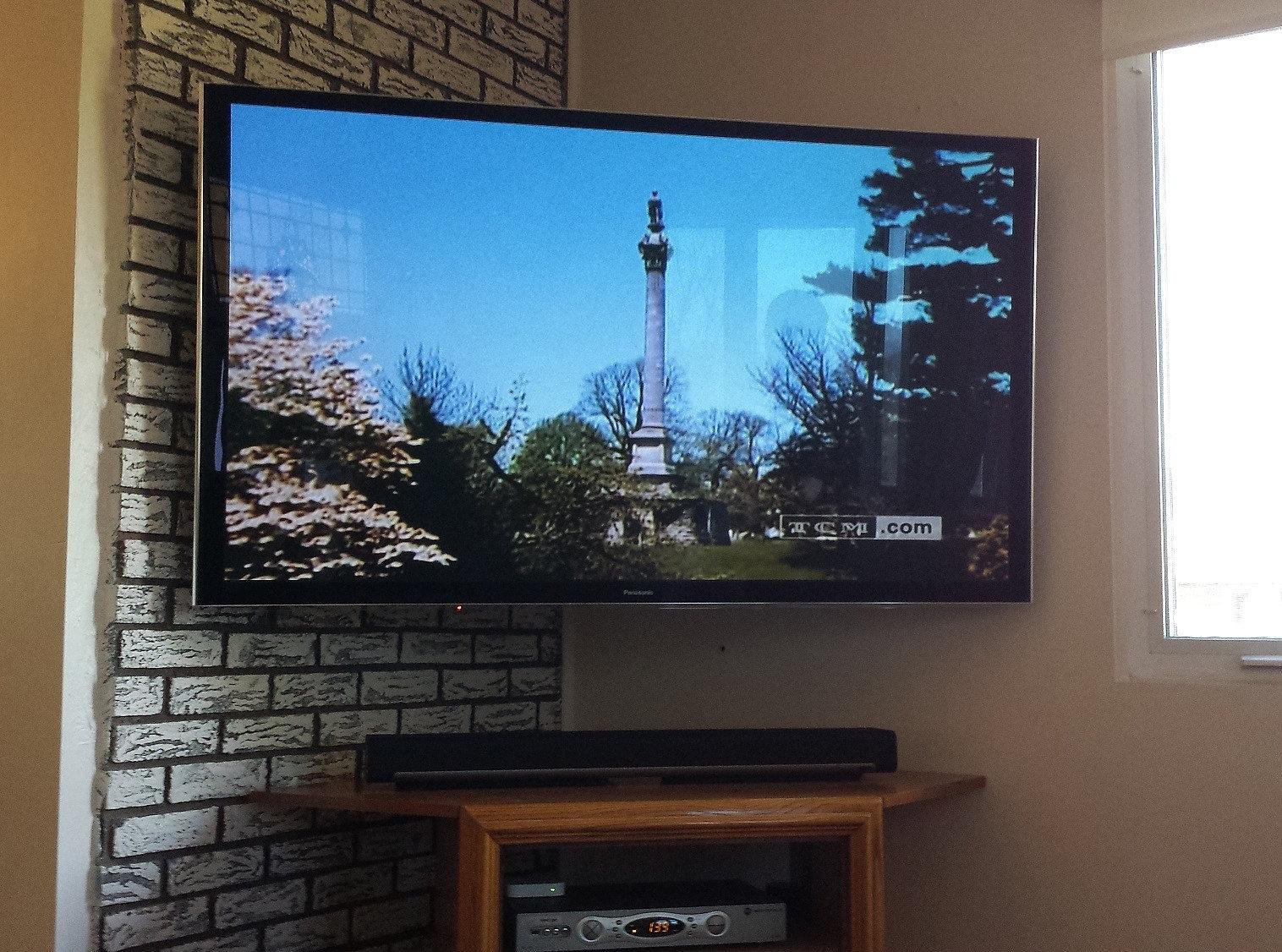 ... Installation Sales Design | Corner mounted Panasonic plasma TV.jpg