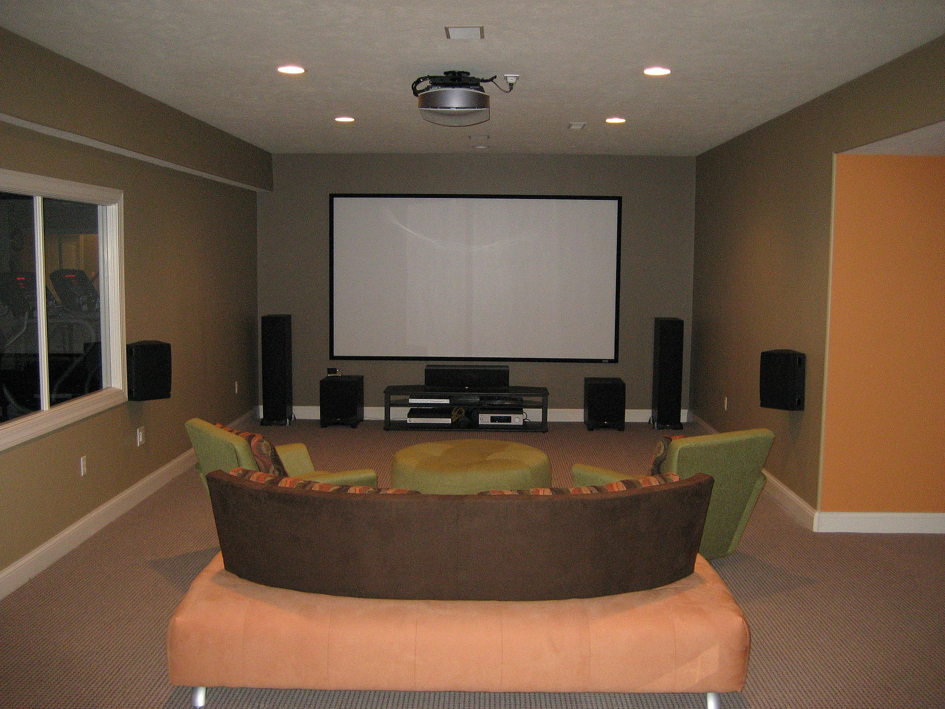 Home Theater Pittsburgh Installation Sales Design | Basement home