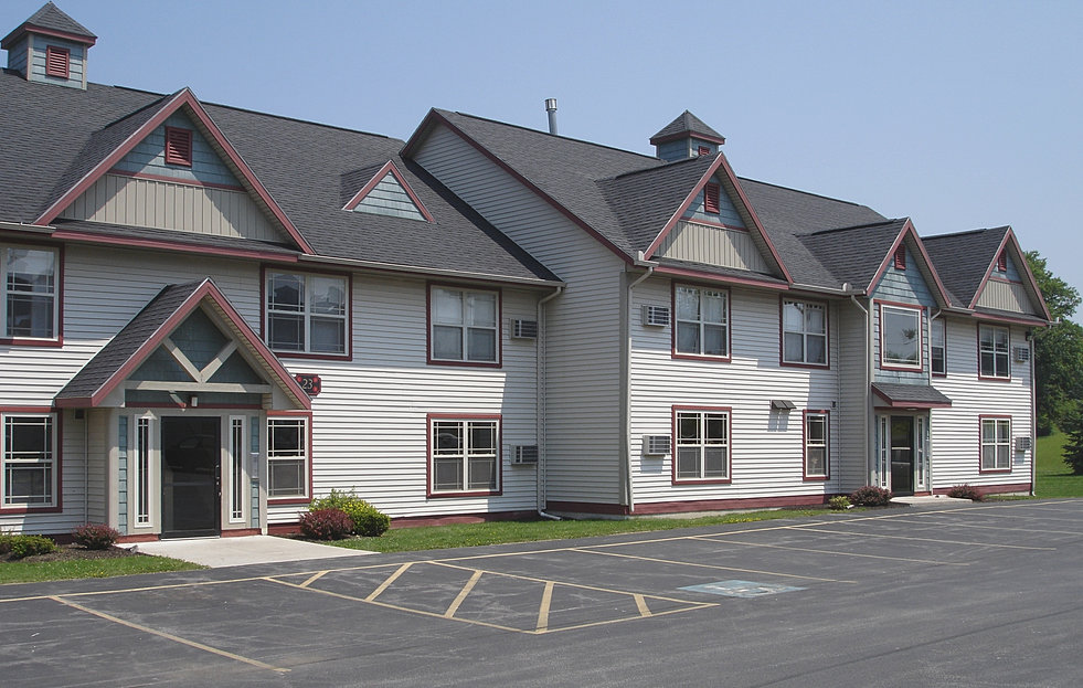 Commercial and residential lease space available for Carriage house garden apartments