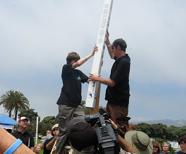 Installing the first poles