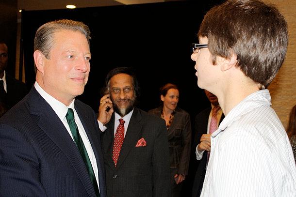 Al Gore and Dr Pachauri, IPCC
