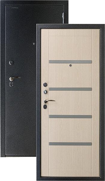 стальная дверь модерн дуб
